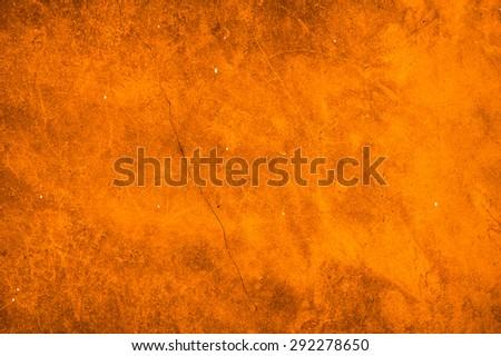 Cement orange wall background - stock photo