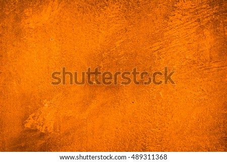 Cement orange wall background