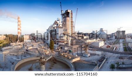 Cement plant - stock photo