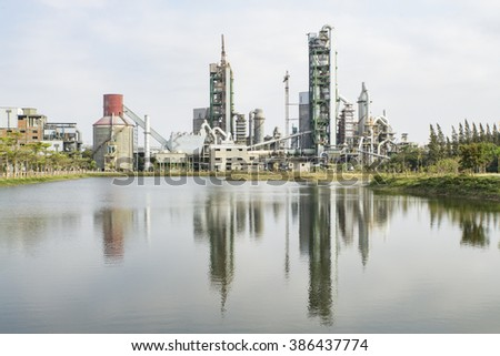 Cement production plant in Cambodia - stock photo