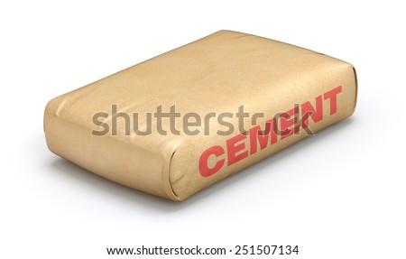 Cement sack - stock photo