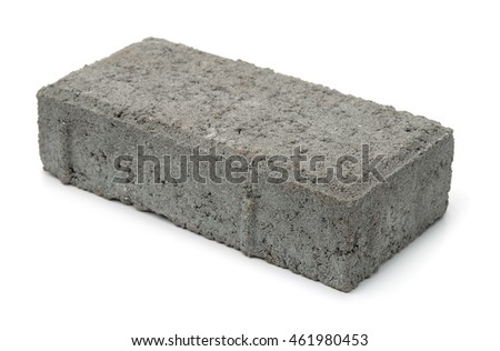 Cement sand brick isolated on white