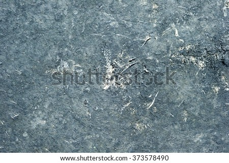 Cement surfaces.