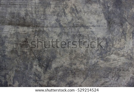 Cement wall and floor for pattern and background