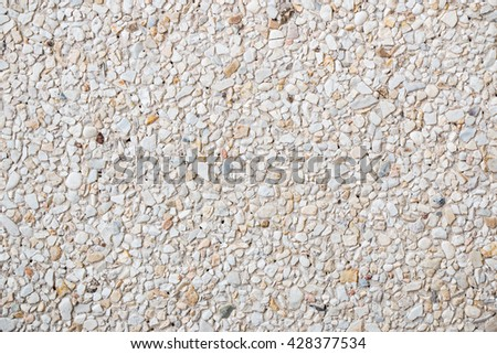 Cement with stone texture