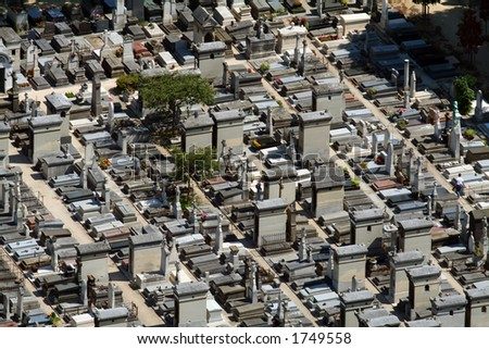 Cemetery aerial view