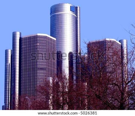 Cen Center Detroit - stock photo
