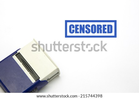 CENSORED blue rubber stamp vector over a white background.