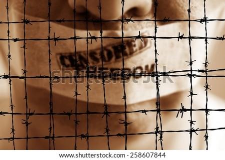 Censored freedom - stock photo