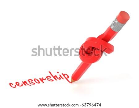 censorship 3d concept - stock photo