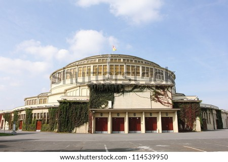 Centennial Hall in Wroclaw - stock photo