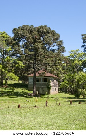 Centennial immigrants home - Rio Grande do Sul - Brazil - stock photo