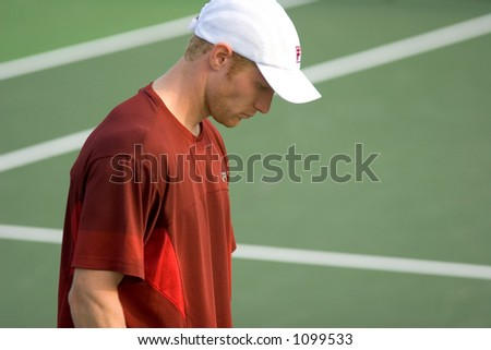 Center Court - Tennis Match Player's Name is D. Tursunov