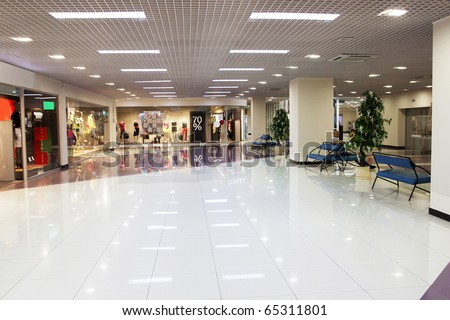 center mall hall - stock photo