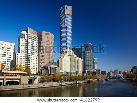 Center of Melbourne and Yarra river