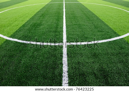 Center of soccer field