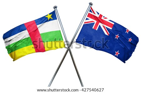 Central african republic flag  combined with new zealand flag