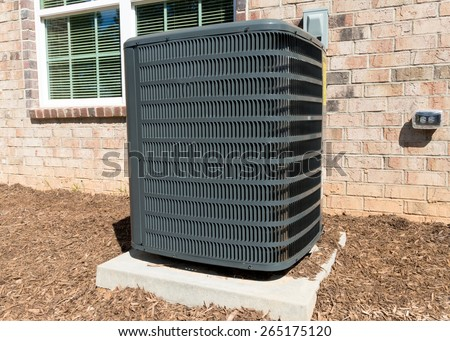 Central air conditioning unit - stock photo