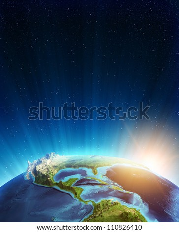Central america real relief. Elements of this image furnished by NASA - stock photo