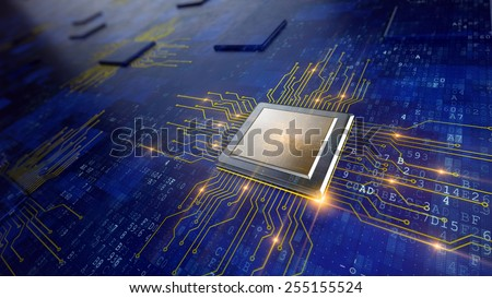 Central Computer Processors CPU concept - stock photo