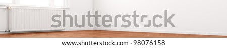 central heating radiator conceptual of increasing costs of energy - stock photo