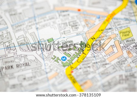 central middlesex hospital london uk map
