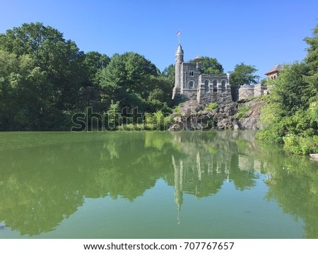 Central Park, Belvedere Castle and Turtle pond, Summer in New York City