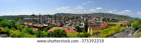 Central part of Budapest. Hungary. Panorama - stock photo