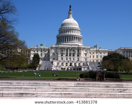 Central part of Capitol in Washington DC, USA  - stock photo