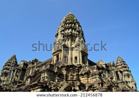 Central Tower of Angkor Wat - stock photo