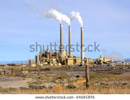 Central Utah Coal-Fired Power Plant - stock photo
