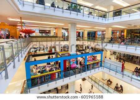 CENTRALWORLD, BANGKOK - MAR 11: People are shopping at Central World on March 11, 2017 in Bangkok. It is a shopping plaza and complex which is the sixth largest shopping complex in the world.