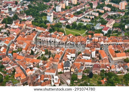 centre of the city Zatec - Czech Republic - Europe - stock photo