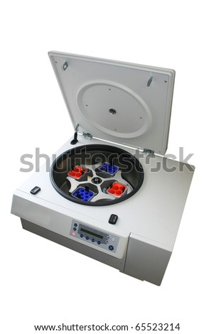 centrifuge isolated on white - stock photo