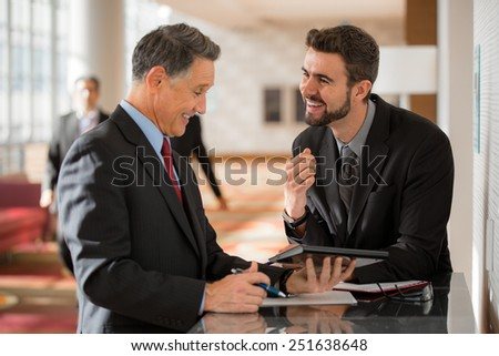 CEO and office worker having a meeting  - stock photo