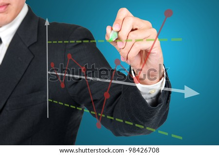 CEO writing Statistical pross Control Chart - stock photo