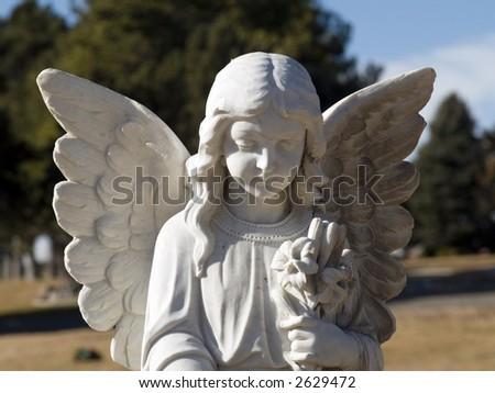 ceramic angel - stock photo