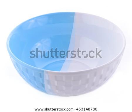 ceramic bowl isolated on white background - stock photo