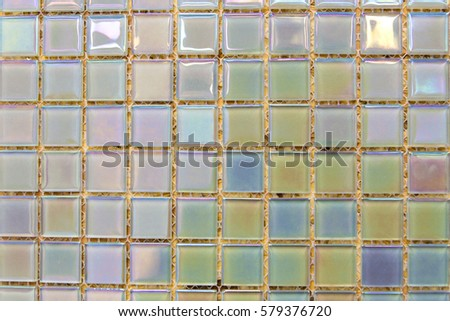 Ceramic Decorative Tiles Of Different Textures Covering Walls And Floor In Kitchen Bathroom Or Toilet