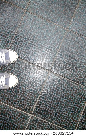 Ceramic floor texture - stock photo