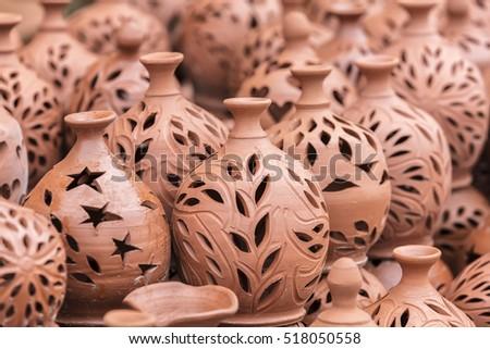 ceramic jugs,Cappadocia , Turkey