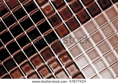 ceramic mosaic tiles in chocolate and coffee color