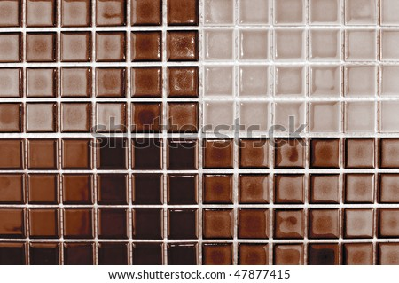 Ceramic Mosaic Tiles Chocolate Brown Color Stock Photo ...