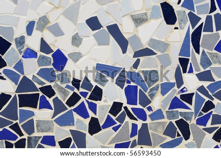 ceramic mosaic wall - stock photo