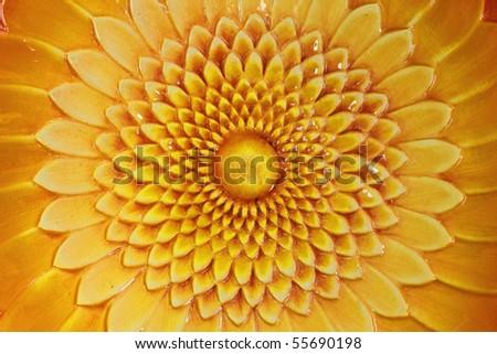 Ceramic sunflower - stock photo