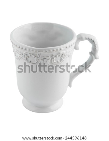 ceramic tea Cup with patterns
