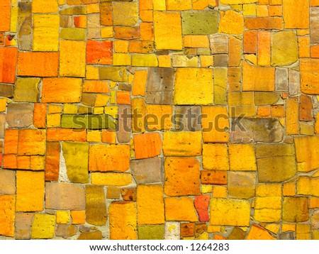 Ceramic tile mosaic. - stock photo