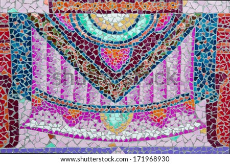 Ceramic tile patterns and colors... - stock photo