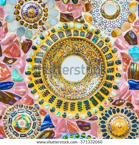 Ceramic tile patterns and colors - stock photo