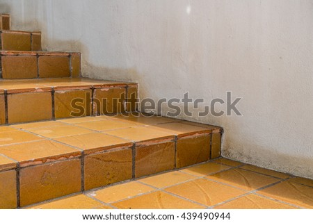 Ceramic tile staircase